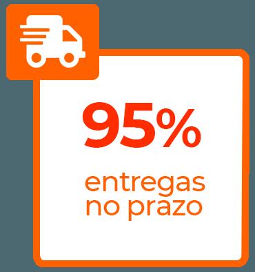95% de entregas no prazo