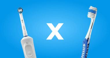 Diferença entre a escova elétrica e a escova manual